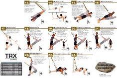 TRX Tijera TRX Sentadilla a una sola pierna TRX Inicio de velocista TRX Flexión de brazos (bíceps) TRX Extensión de codo (estiramiento del brazo, para tríceps)…