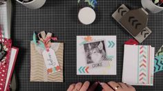 Fab ideas on what to do with your Chevron Border Punch from Stampin Up