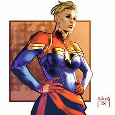 Captain Marvel by LucianoVecchio on DeviantArt