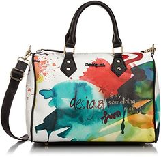 Desigual Desigual Bowling Painter Woman Woven Across Cross Body Bag, White, One Size