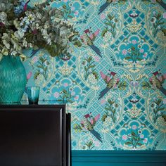 Luxury Wallpaper, Designer Wallpaper, Latest Wallpaper, Modern Victorian, Victorian Homes, Bathroom Wallpaper, Wall Wallpaper, Little Greene, Diy Spa
