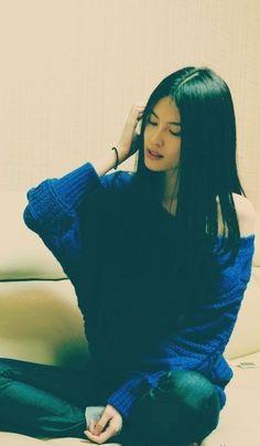 Sui He ♥ blue midnight sweater