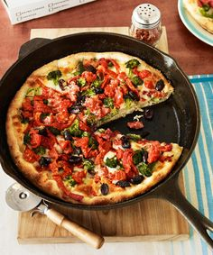 Better than takeout: This make-at-home Chicago deep-dish pizza is as flavorful and fast as delivery — at a fraction of the cost. Get the recipe for Chicago Deep-Dish-Style Veggie Pizza  - GoodHousekeeping.com