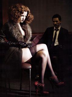 Lara Stone by Paolo Roversi, Vogue Italia November 2009.