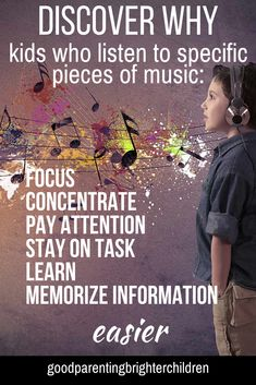 Do you children or teens have difficulty paying attention, focusing, concentrating? Do they have diff… in 2020 Music Activities For Kids, Music For Kids, Learning Activities, Kids Learning, Educational Activities, Toddler Activities, Good Parenting, Parenting Hacks, Parenting Toddlers