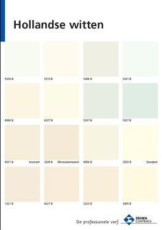 Je hebt wit, wit en wit. Al een klein verschil in kleurnuance heeft bij wit een groots effect. Praktisch bij elkaar gebracht door de kleurspecialisten van Sigma verf.