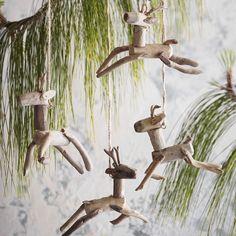 Roost Co Driftwood Reindeer Ornament | eBay
