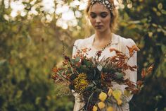 Wild Autumn bride bouquet in rust, orange and yellow. Captured by Shelley Richmond Photography Autumn Bride, Rust Orange, Bride Bouquets, Big Day, Wild Flowers, Wedding Events, Seasons, Couple Photos, Yellow