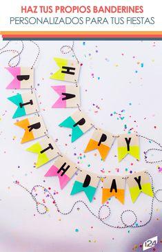 Es muy sencillo, sé creativo y harás cosas geniales #fiestas #party #banderines #decoration #ideas #decoración