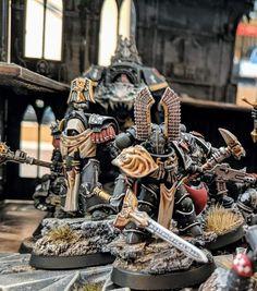 Warhammer Dark Angels, Dark Angels 40k, Fallen Angels, Legion Characters, Imperial Fist, Space Wolves, Warhammer 40k Miniatures, Angel Of Death, Mini Paintings