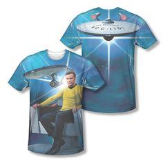 Star Trek Captain Kirk's Ship Enterprise Photo Sublimation All-Over T-shirt Top Available In Sizes:Small, Medium, Large, XL, 2XL #StarTrek #CaptainKirk #OriginalBridge #StarTrekTshirt #Enterprise