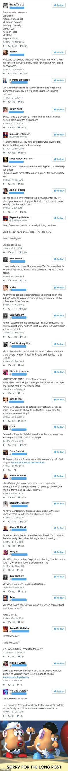 Funny Married People Tweets - 9GAG