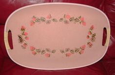 ZERO SHIPPING Vintage Pink Masonite Tray with by RusticWayLane