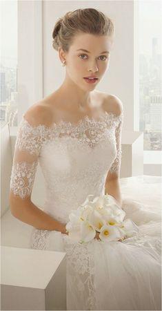 Lace Sleeves Wedding Dresses (13)