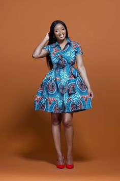 Shop Grass-fields African Print Chebe Midi Dress - Look effortlessly cool wearing the African Print Chebe Midi Dress, in stunning Colourful African print. It's bold and beautiful, perfect for any social occasion! African Fashion Designers, Latest African Fashion Dresses, African Print Fashion, Africa Fashion, African Prints, Ankara Fashion, African Fabric, Trendy Ankara Styles, Ankara Gown Styles