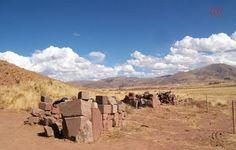 Ruínas de construções em Tiahuanaco - Bolivia urandir pesquisa 2011