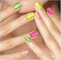 IsaDora Neon Glitter Nails 2013