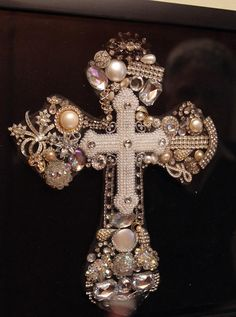 Great use for Granny's costume jewelry.