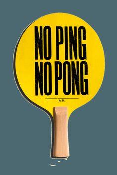 Anthony Burrill - The Art of Ping Pong. Geveild voor BBC Children in need