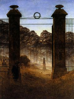 Caspar David Friedrich  The Cemetery Entrance  1825