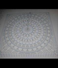 poncho diagram granny XL