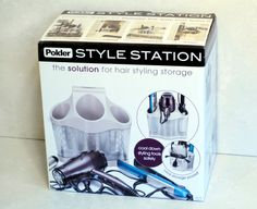 Hair Tool Storage With The Polder Style Station- heat proof with silicone and stainless steel mesh!