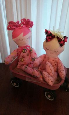 Pajama dolls  Jammie dolls soft cloth doll  fabric doll  handmade