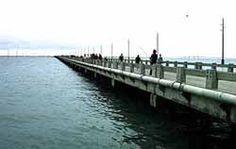 Fishing off the pier