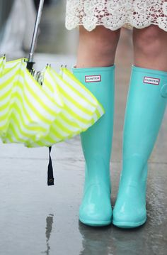 Why do I love Hunter's so much?  They're just rain boots but they make me think of Ireland...