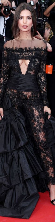 Emily Ratajkowski In a Custom Designed, Peter Dundas gown at the Premiere of 'Loveless' - Cannes Film Festival, 2017.
