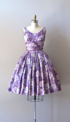 vintage 1950s dress / floral 50s dress / Histoire du Soldat dress