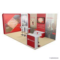 Diseño 3D de stands y diseñador de stands en tres dimensiones