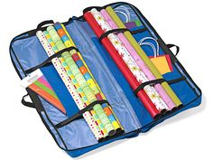 Secure all your gift wrap essentials in multiple compartments with this zip-and-go bag