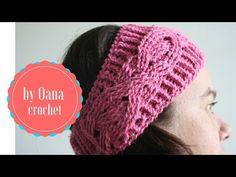 Crochet  headband with braid- by Oana - YouTube
