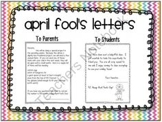 April Fools Day Prank Letters to Students and Parents      from EasyPeasyLemonSqueezy on TeachersNotebook.com -  (3 pages)  - April Fools Day Prank Letters to Students and Parents  Have some fun with your students this April 1!   Includes: Prank letter to students Prank letter to parents