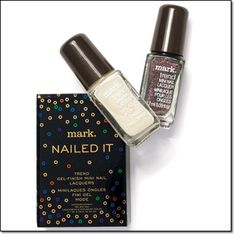 mark. NAILED IT TREND GEL-FINISH MINI NAIL LACQUERS No salon, no UV light curing—just high-impact, gel-like shine in two limited-edition shades: eggnog, a deliciously creamy white, and sugar plum, a dreamy shimmering marsala. 0.09 fl. oz. each http://jgoertzen.avonrepresentative.com/