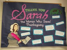 Thanksgiving Bulletin Board-made by Sarah Hale