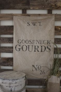 a fine farmhouse....GOOSENECK GOURDS....Fun Fall Feedsacks !   I've made a few extras !  I love them all...   approximately 30 x 19 ......SOLD OUT, Thank you !  24.00 each