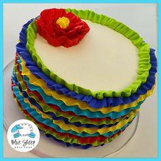 Fiesta Buttercream Ruffle Cinco De Mayo Cake