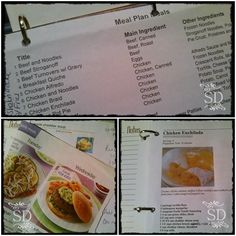 meal plan for a month- Neat ideas, free, but not very WW friendly. Try incorporating principles for my stuff. VERY  organized