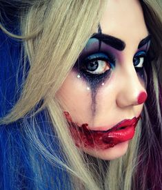 Maquillage clown – nez rouge, humour noir