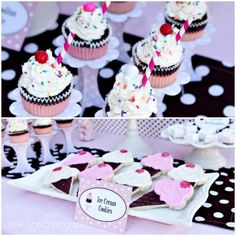 ice cream cupcakes and cookies