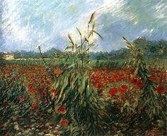 Poppy Fields, 1888, Vincent Van Gogh.