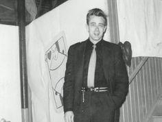 James Dean at Fairmount High School's Sweethearts Ball on St. Valentine's Day in Fairmount, Indiana, 1955.