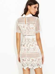 A chic and romantic lace dress for the summer days ! Shoulder(Cm)  8f69afbf7c0