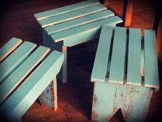 Banquitos de madera Reciclada estilo Vintage    - Art PP-  https://www.facebook.com/pages/Art-PP/598057860207354?fref=ts