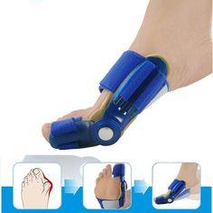 Cuidado de pies Azul estilo Hueso Grande de Punta para pedicura aparatos ortopédicos Férula Corrector Foot Pain Relief Hallux Valgus Ortesis 1 unid