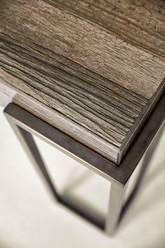 Reclaimed Wood Furniture, Steel Furniture, Industrial Furniture, Cool Furniture, Furniture Design, Furniture Plans, Joinery Details, Table Haute, Wood Steel