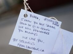 Notes were tied to balloons and released during a memorial for John Deming Jr. at Piedmont Hills High School in San Jose, Calif., on Friday, July 17, 2015. (Jim Gensheimer/Bay Area News Group)