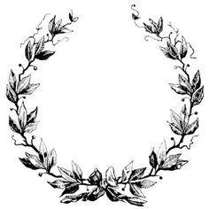 Vintage laurel wreath